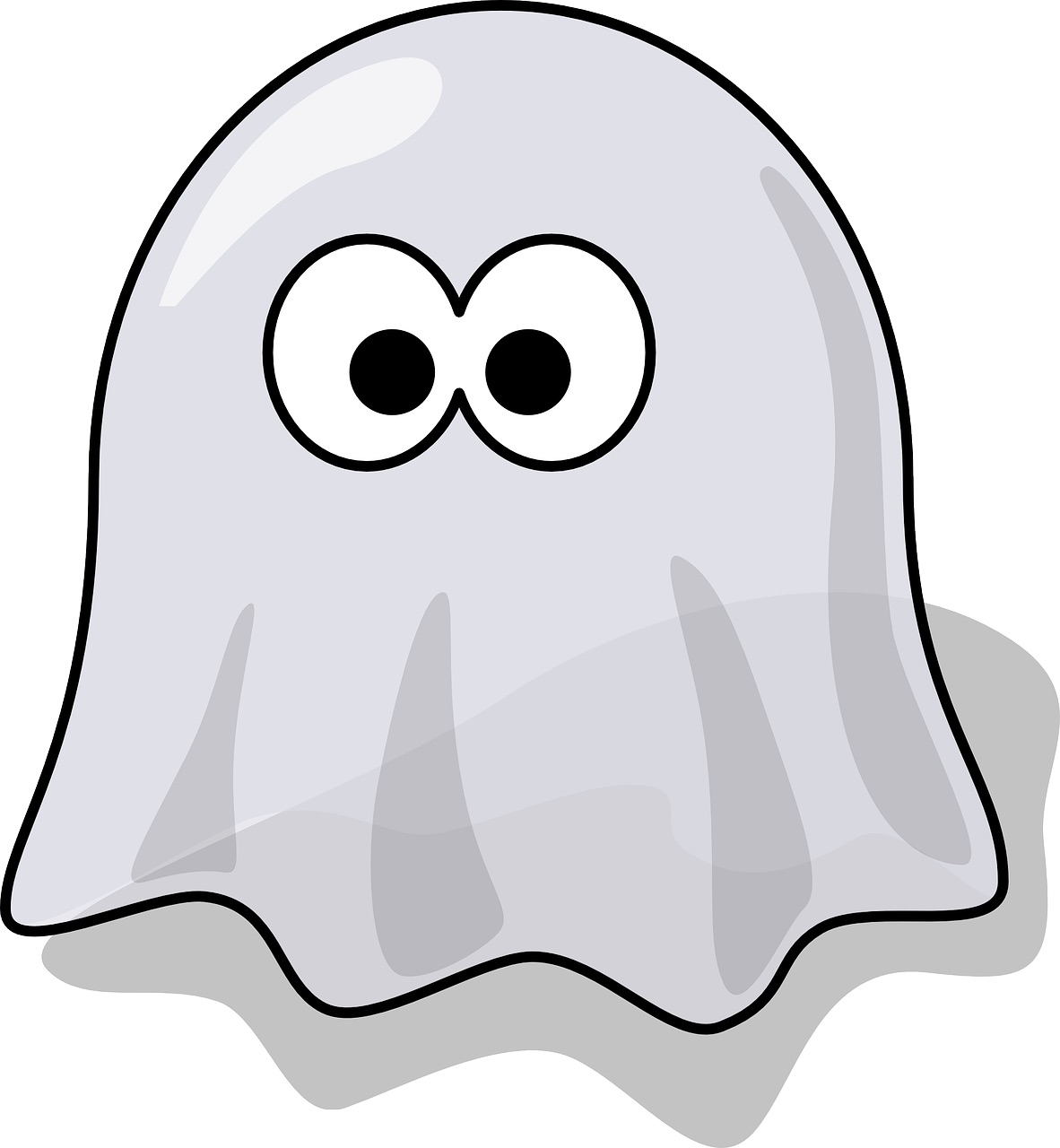 Cartoon of a ghost